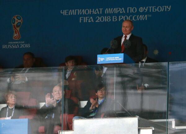 Президент РФ Владимир Путин на торжественной церемонии открытия чемпионата мира по футболу - 2018