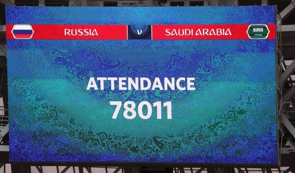 Информация о количестве зрителей на матче