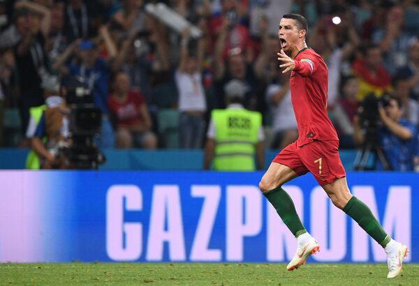 Футбол. ЧМ-2018. Матч Форвард сборной Португалии Криштиану Роналду- Испания