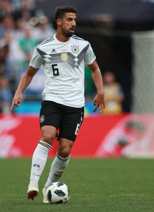 Полузащитник немецкой сборной Сами Хедира