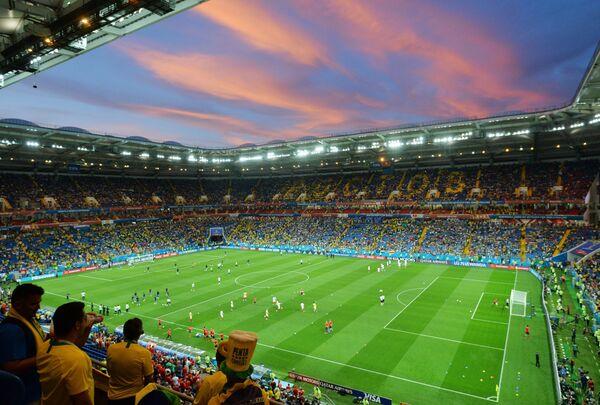 Болельщики перед матчем ЧМ-2018 по футболу между сборными Бразилии - Швейцарии