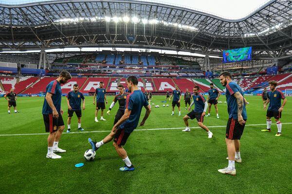 Футбол. ЧМ-2018. Тренировка сборной Испании
