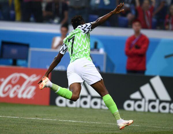 Нападающий сборной Нигерии Ахмед Муса
