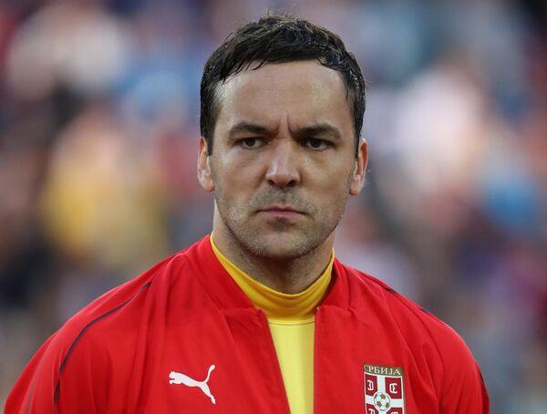 Вратарь сборной Сербии Владимир Стойкович