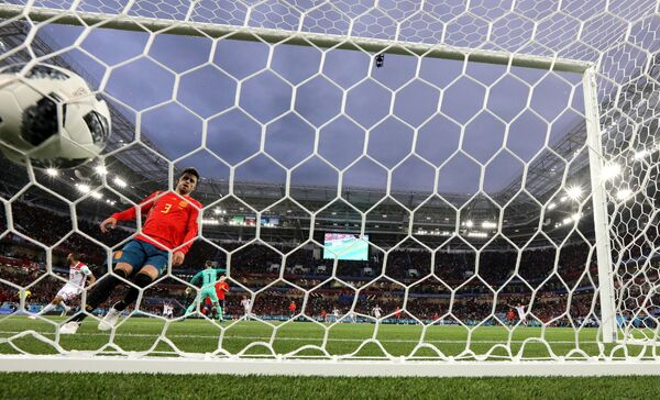 Гол марокканцев в ворота сборной Испании