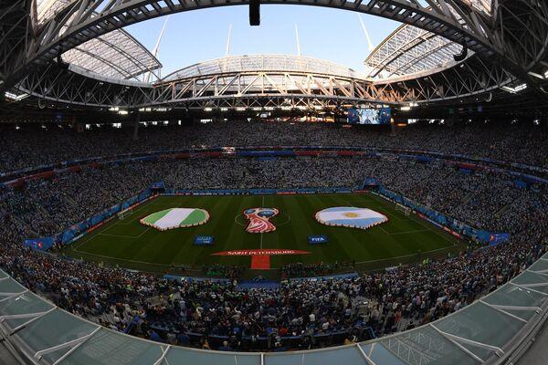 На стадионе Санкт-Петербург