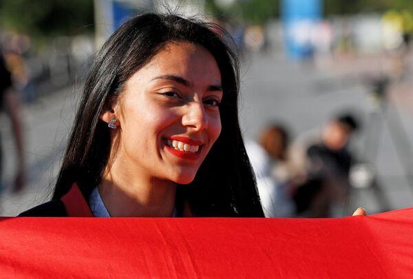 Болельщица сборной Туниса