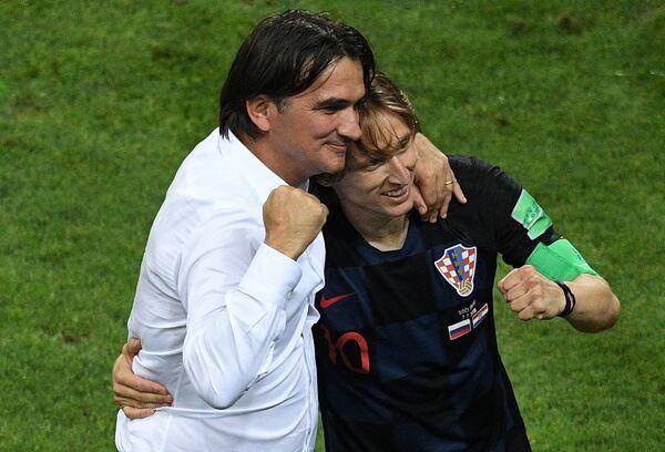Главный тренер Златко Далич и капитан хорватской команды Лука Модрич