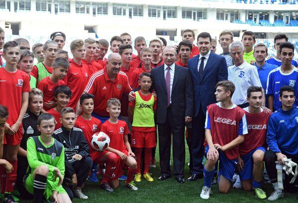 Рабочая поездка президента РФ В. Путина в Калининград