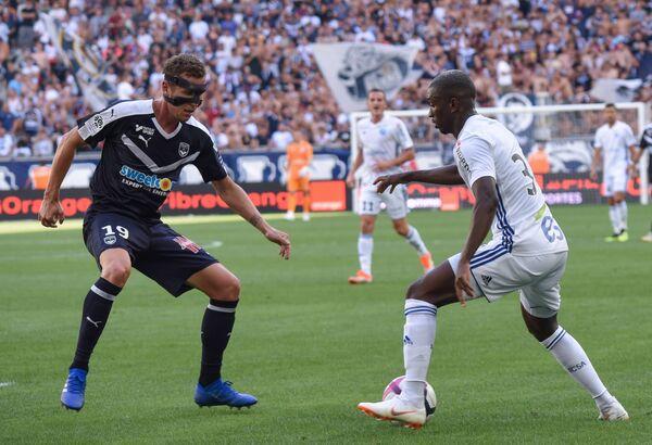 Игровой момент в матче Страсбур - Бордо