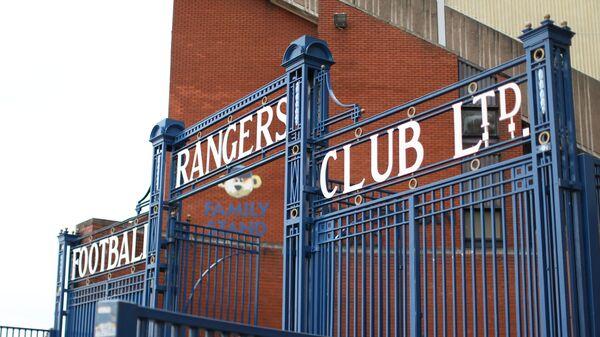 Вход на стадион клуба Рейнджерс в Глазго