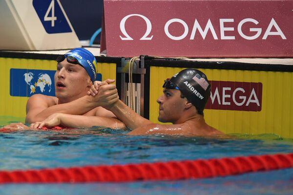 Слева направо: Андрей Говоров (Украина) и Майкл Эндрю (США)