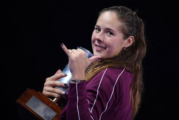 Дарья Касаткина после победы на ВТБ Кубке Кремля