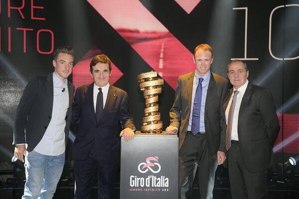 Презентация маршрута 102-й в истории многодневной велогонки Джиро д'Италия