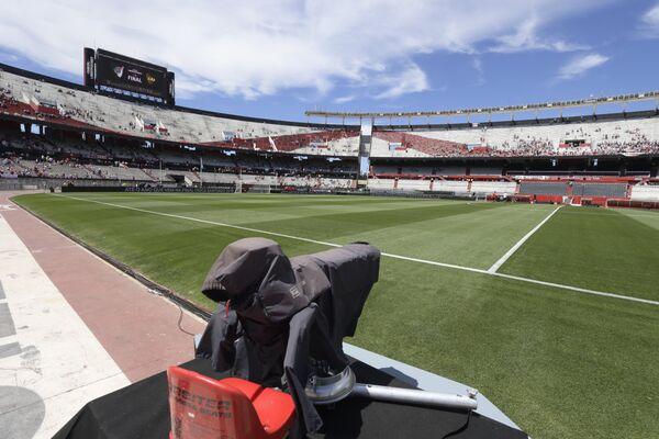 Стадион Монументаль в Буэнос-Айресе, где должен состояться финал Кубка Либертадорес