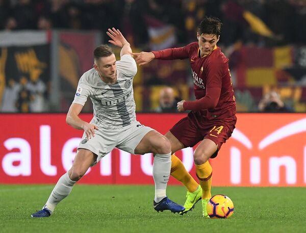 Игровой момент матча Рома - Интер