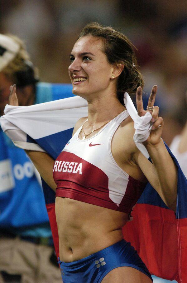 Е.Исинбаева - олимпийская чемпионка