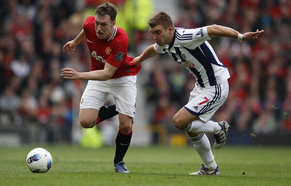 Игровой момент матча Манчестер Юнайтед - Вест Бромвич