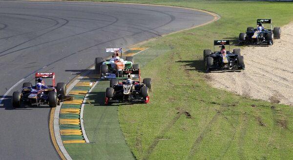 Момент гонки на Гран-при Австралии