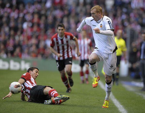 Игравой момент матча Валенсия - Атлетик (Бильбао)