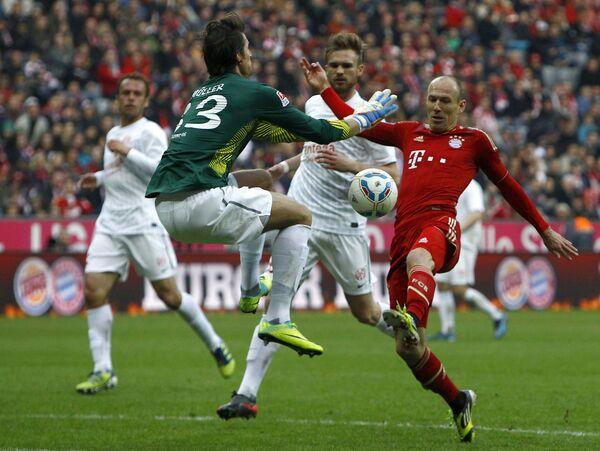 Игровой момент матча Бавария - Майнц