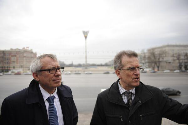 Михаил Чернышев и Юрген Мюллер (слева направо)
