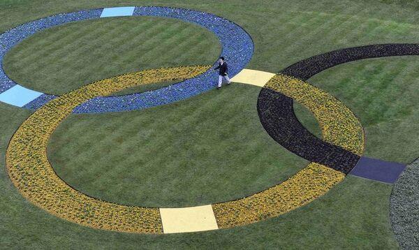 Олимпийские кольца в Лондоне