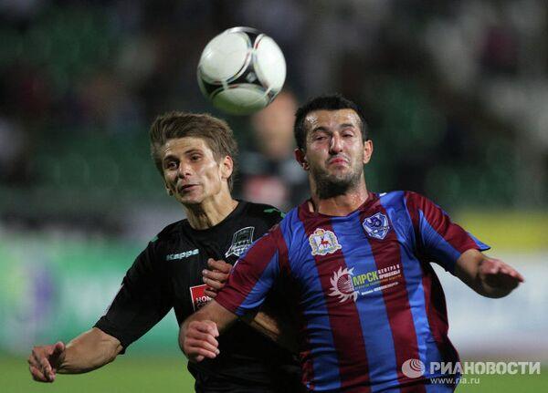 Игровой момент матча Краснодар - Волга
