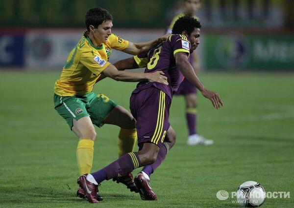 Игровой момент матча Кубань — Анжи