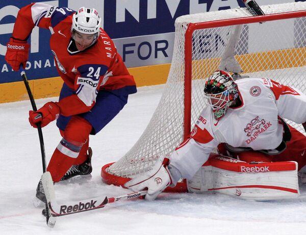 Игровой момент матча Норвегия-Дания