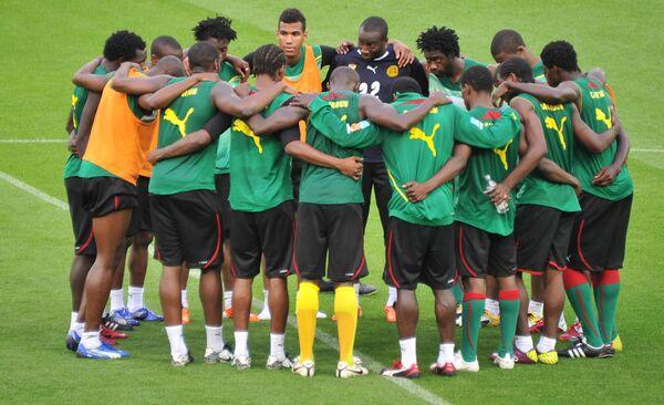 Тренировка сборной Камеруна