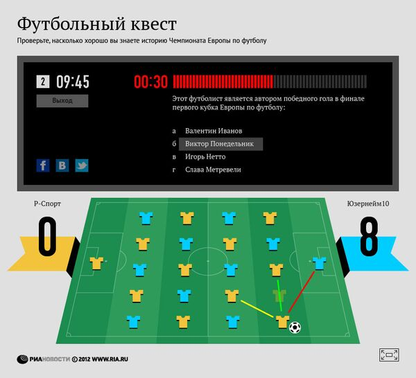 Флеш-игра: Интеллектуальный футбол