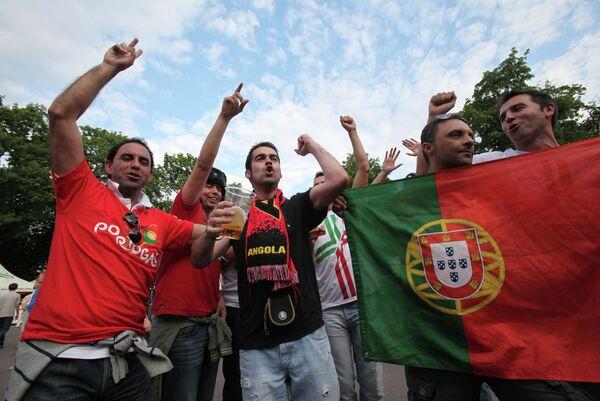 Болельщики сборной команды Португалии
