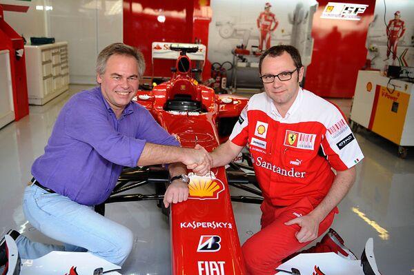 Евгений Касперский и Стефано Доменикали, руководитель команды Ferrari Формулы-1. Архив