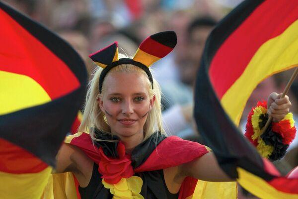 Болельщица сборной Германии