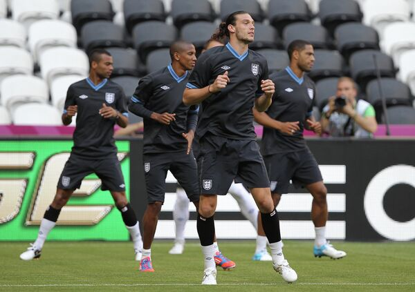 Тренировка сборной Англии