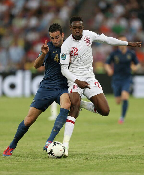 Игровой момент матча Франция - Англия