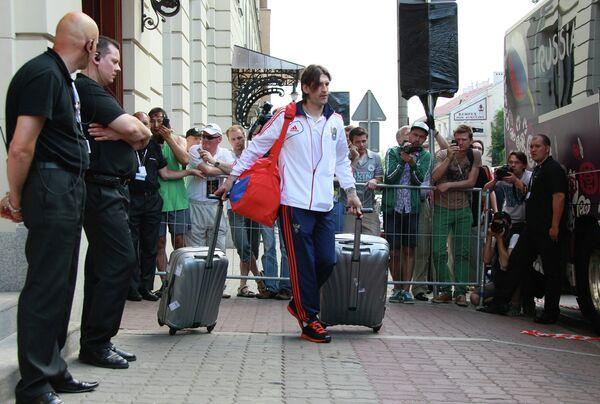 Отъезд сборной России по футболу с Чемпионата Европы