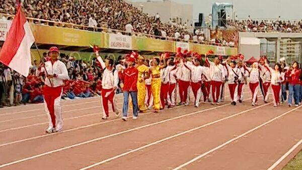 Торжественная церемония открытия V Международных спортивных игр Дети Азии