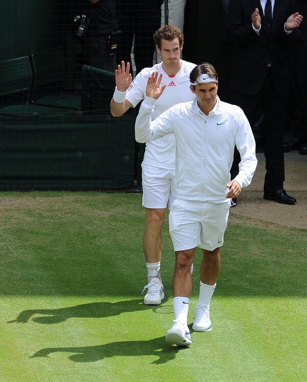 Энди Маррей и Роджер Федерер (слева направо)