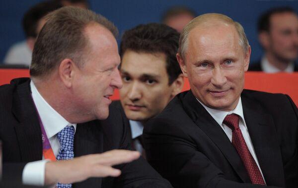 Президент РФ В.Путин с рабочим визитом в Великобритании