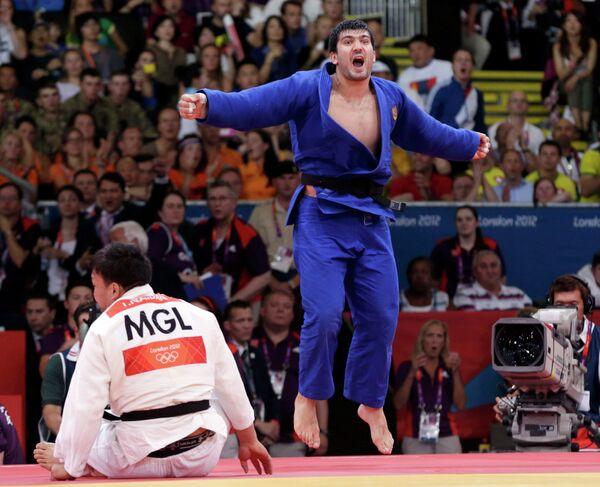 Победитель Олимпиады в соревнованиях дзюдоистов в весовой категории до 100 кг Тагир Хайбулаев