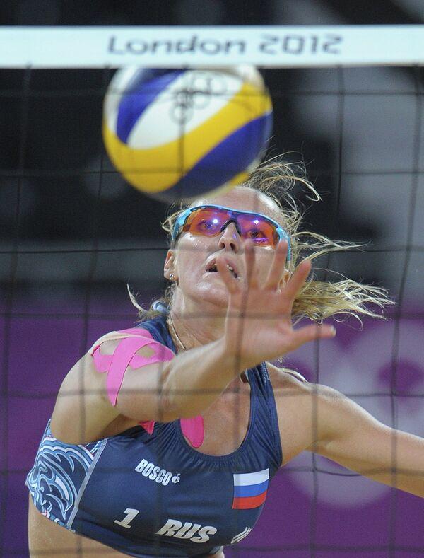 ОИ - 2012. Пляжный волейбол. Женщины. Матч Россия-Канада