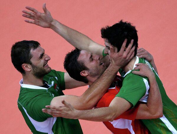 Игроки сборной Болгарии по волейболу
