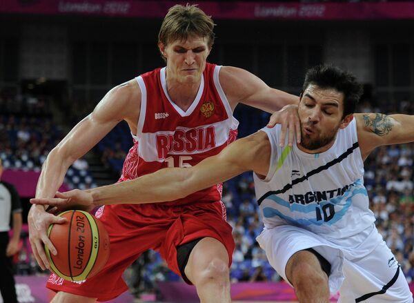 Игровой момент матча Аргентина - Россия