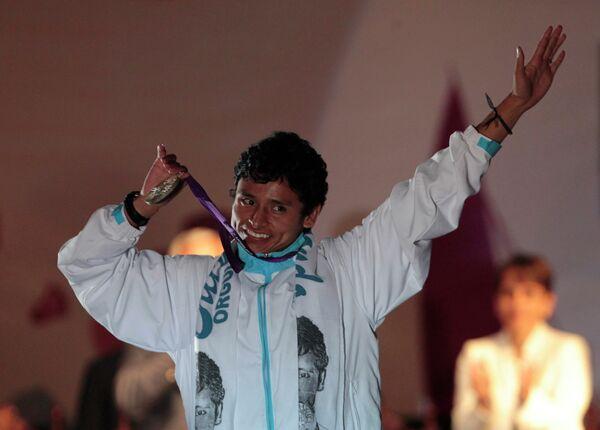 Чествование гватемалца Эрика Баррондо  в Гватемала Сити