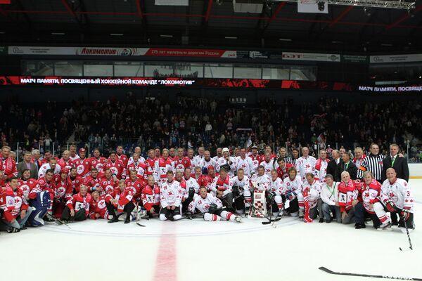 Хоккей. Матч, посвященный годовщине гибели ХК Локомотив