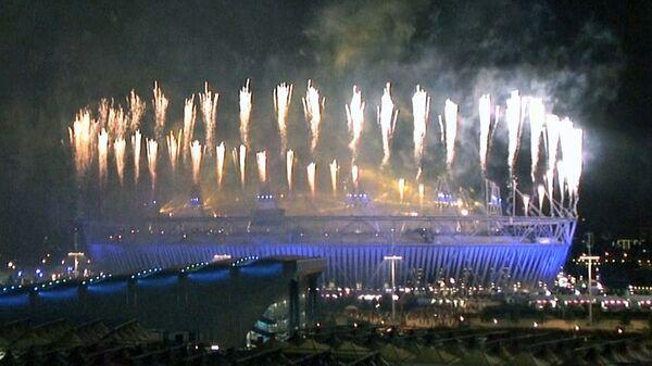 Красочный фейерверк озарил небо Лондона на закрытии Паралимпиады-2012