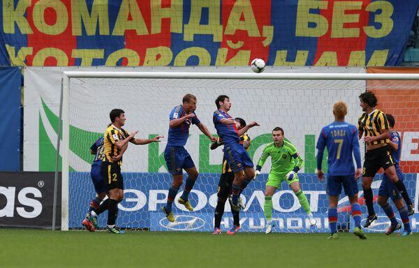 Игровой момент матча ЦСКА — Алания