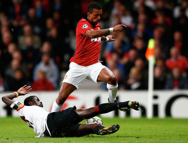 Игровой момент матча Манчестер Юнайтед - Галатасарай